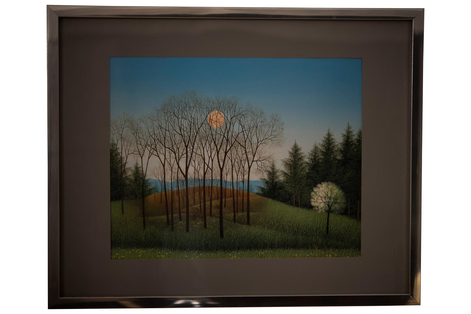 #120 Josef Bramer* (1948), Trees with Meadow and Sun | Josef Bramer* (1948), Bäume mit Wiese und Sonne Image