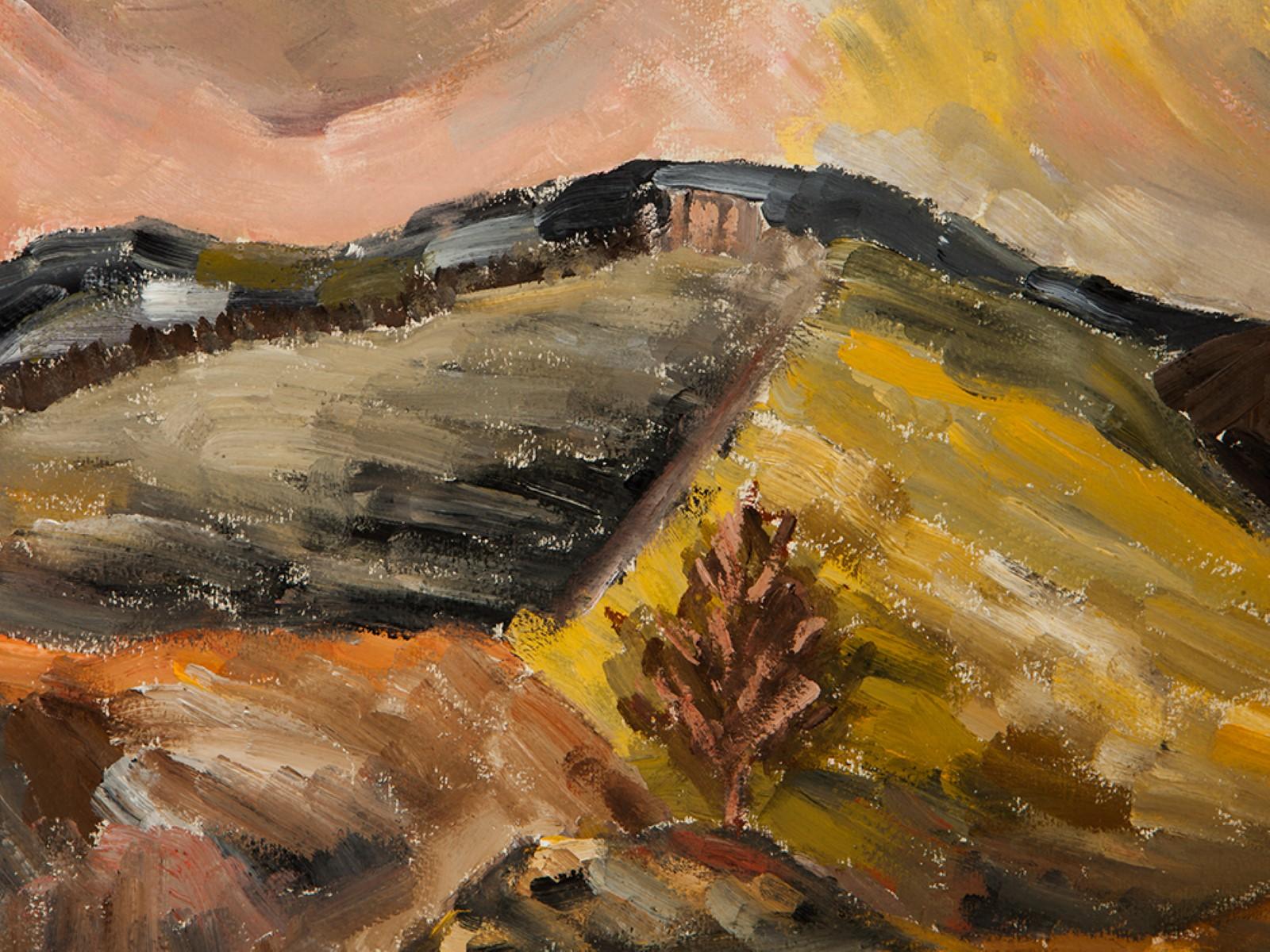 #122 Rudolf Petrik* (1922-1991), Landscape with Tree, Austria, 1944   Rudolf Petrik* (1922-1991), Landschaft mit Baum, Österreich, 1944 Image
