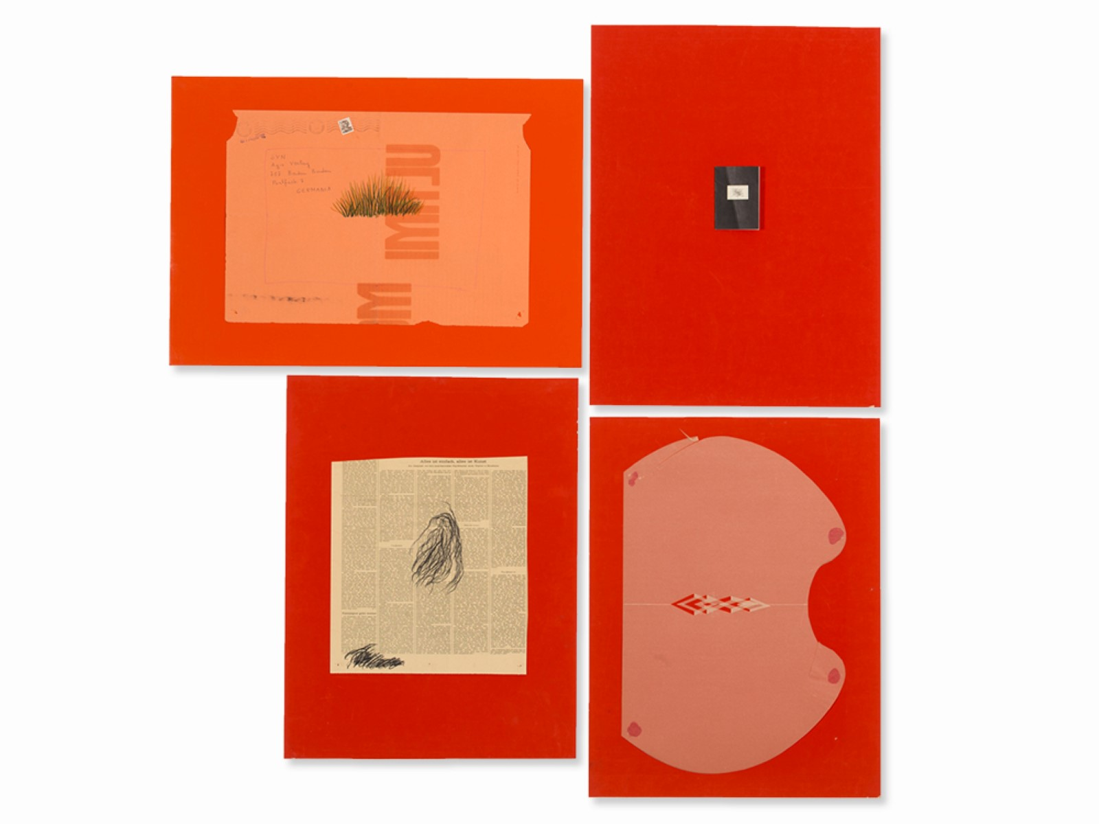 #125 Klaus Jürgen-Fischer, Set of Four Collages, Germany, 1960s   Klaus Jürgen-Fischer (1930- 2017), Folge von vier Collagen, 1960er Jahre Image