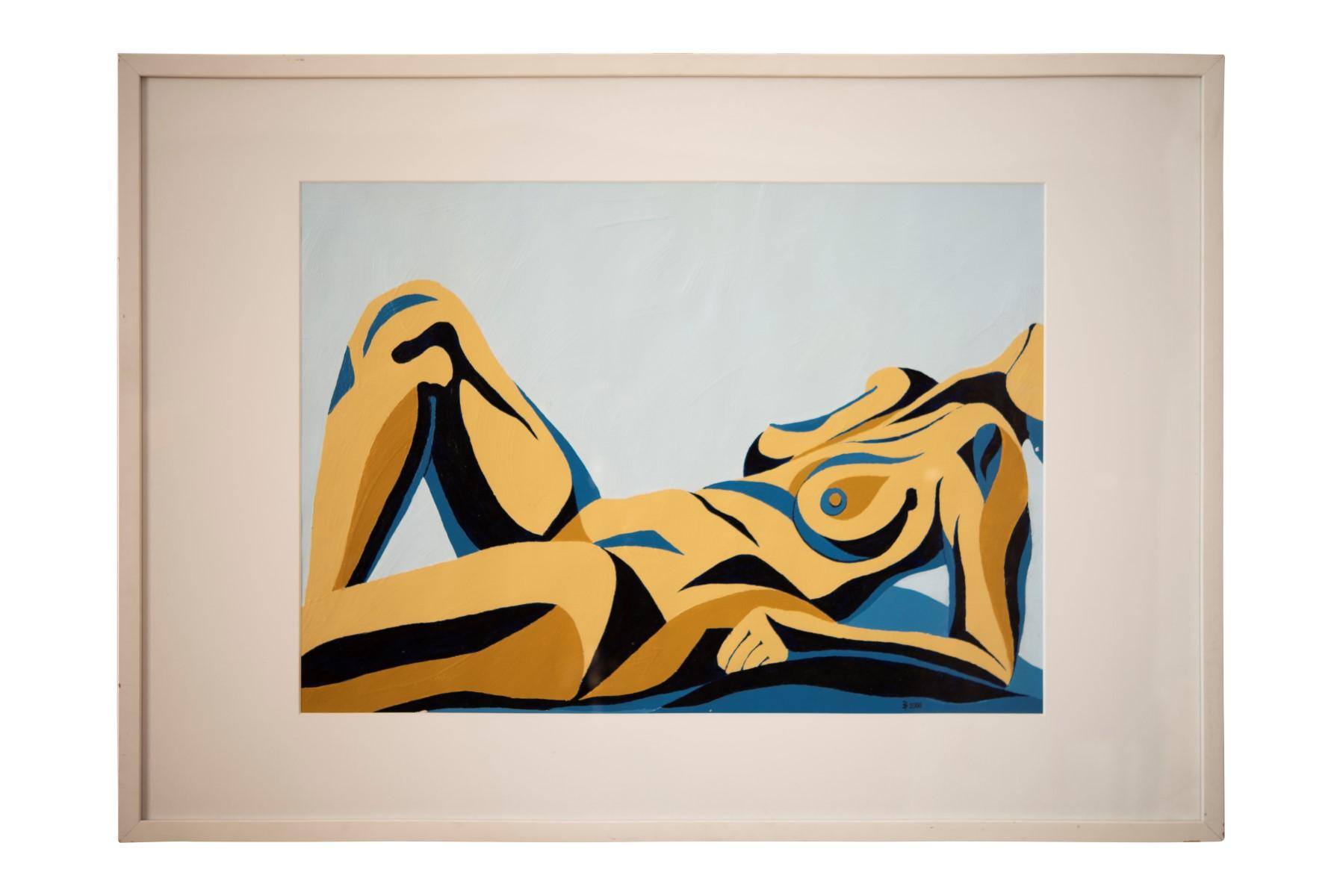 #134 Pauline Buchinger, Nude Blue 2000   Pauline Buchinger, Aktbild Blau, 2000 Image