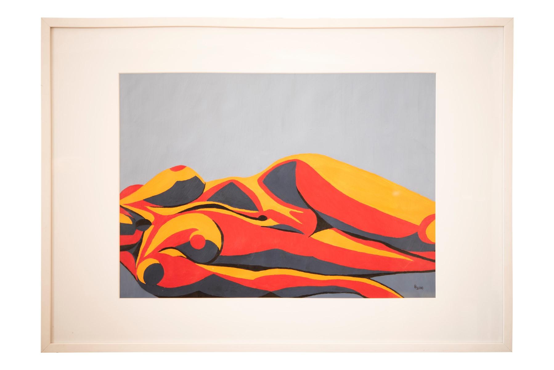 #135 Pauline Buchinger, Nude Red 2000 | Pauline Buchinger, Aktbild Rot, 2000 Image