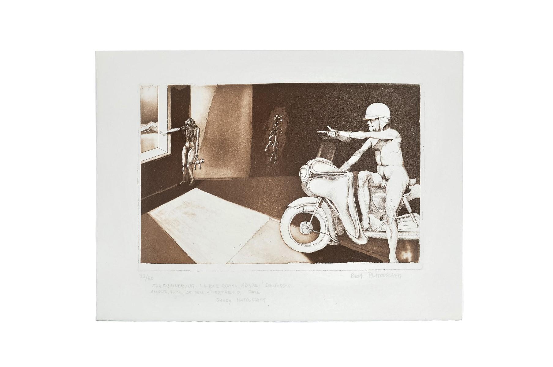 #15 Dandy Matouschek, Motorcyclist | Dandy Matouschek, Motorradfahrer Image