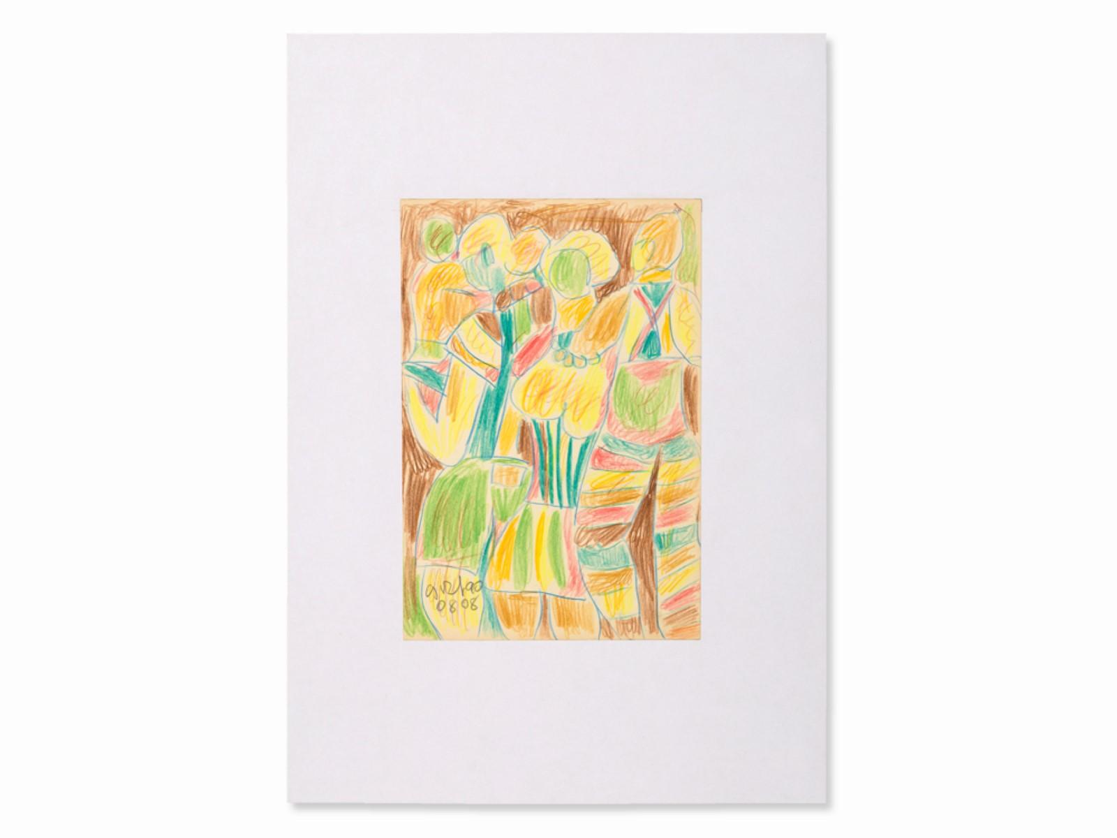 #27 Miklos Németh* (1934-2012), Colorful Figures, 2008   Miklos Németh* (1934-2012), Bunte Figuren, 2008 Image
