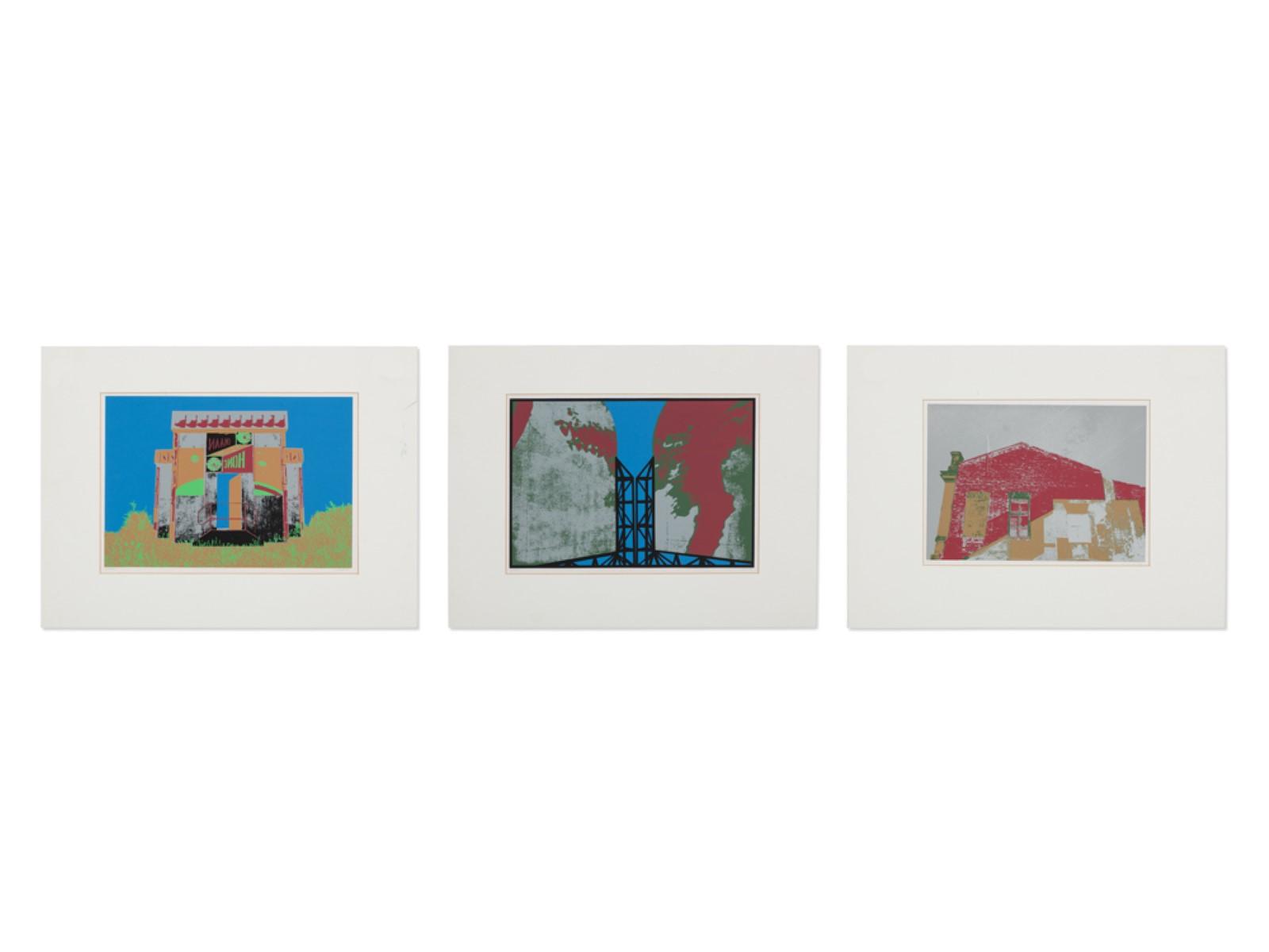 #28 Ulrich Fischer* (1951), Three Serigraphs from the Cycle Russia, 1993 | Ulrich Fischer* (1951), Drei Siebdrucke aus dem Zyklus Russland, 1993 Image