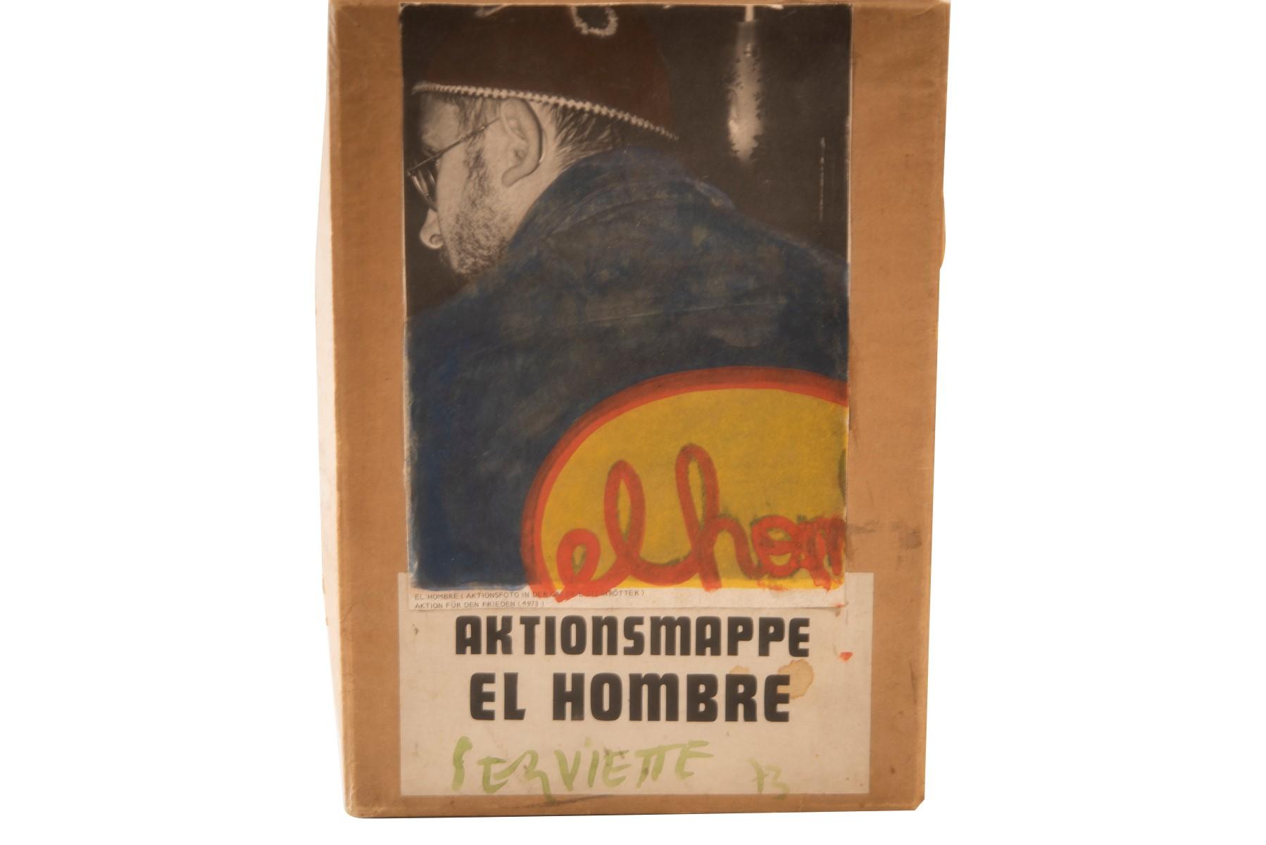 #3 el hombre, Hubert Pfaffenbichler* (1942-2008), napkin 1972-73 | el hombre, Hubert Pfaffenbichler*, (1942-2008), Serviette 1972-73 Image