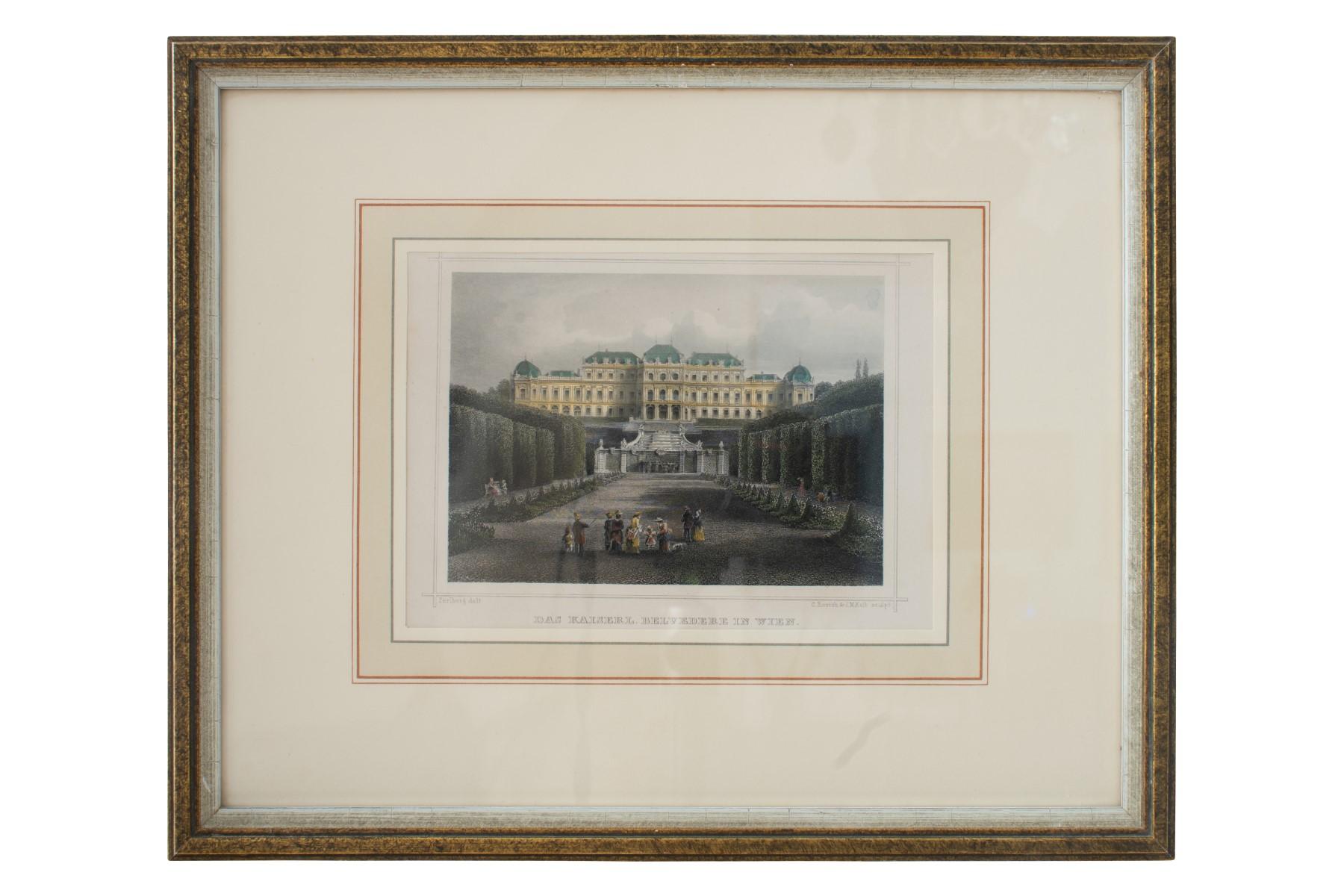 #38 C. Rohrich(1817-1883) u. M. Kolb (1818-1859) , The Imperial Belvedere in Vienna   C.Rohrich(1817-1883) u. M. Kolb (1818-1859) , Das Kaiserliche Belvedere in Wien Image