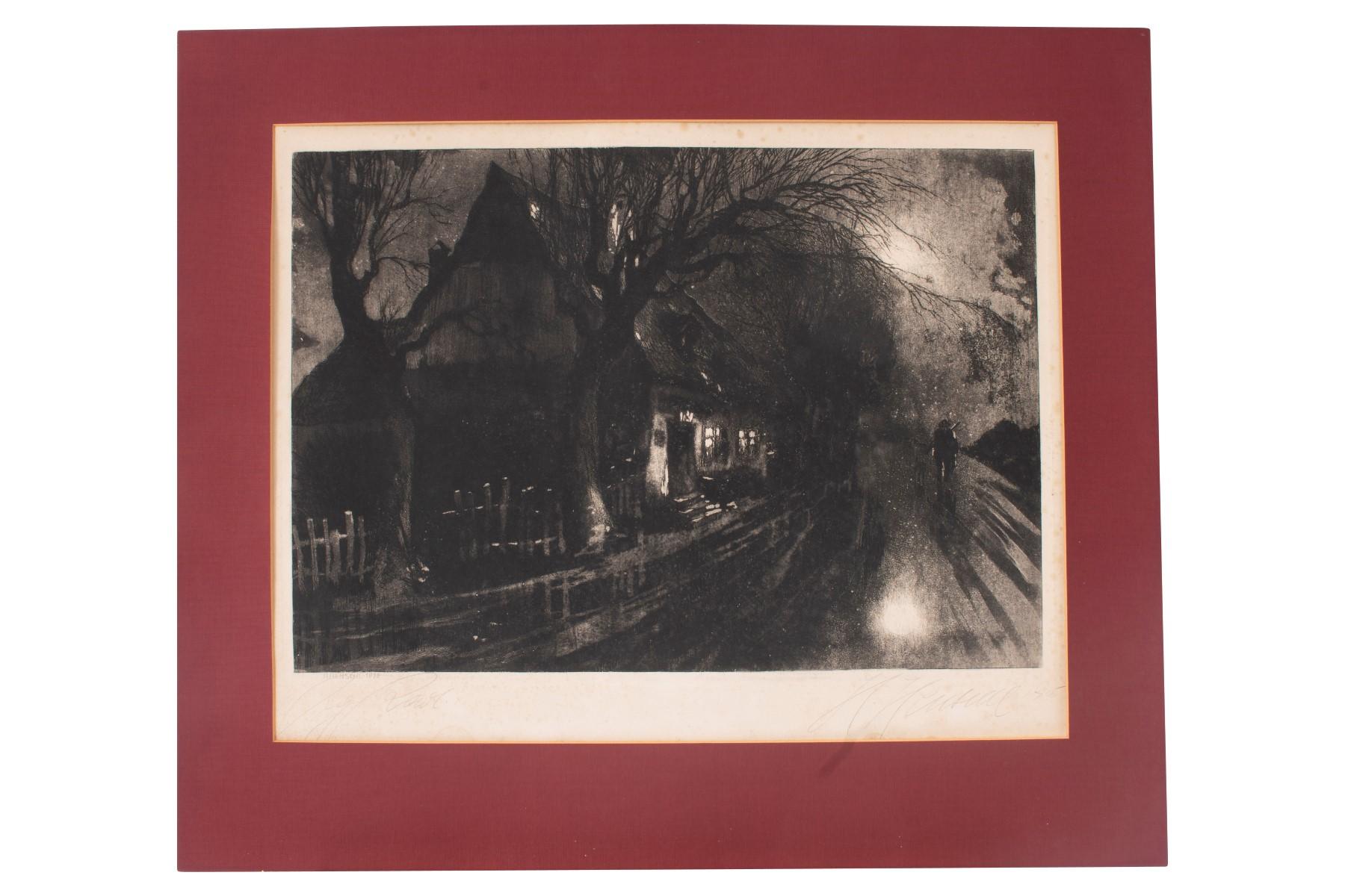 #46 Hugo Henschl (1879-1929), Night mood   Hugo Henschel (1879-1929), Nachtstimmung Image