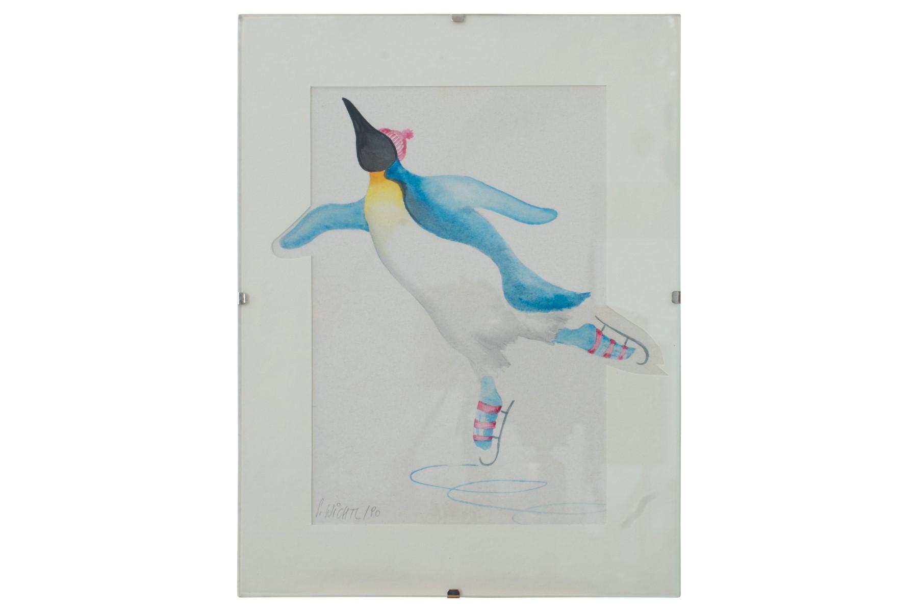 #48 Silvia Wichtl( 1945) , Ice dancing penguin   Silvia Wichtl (1945) , Eistanzender Pinguin Image