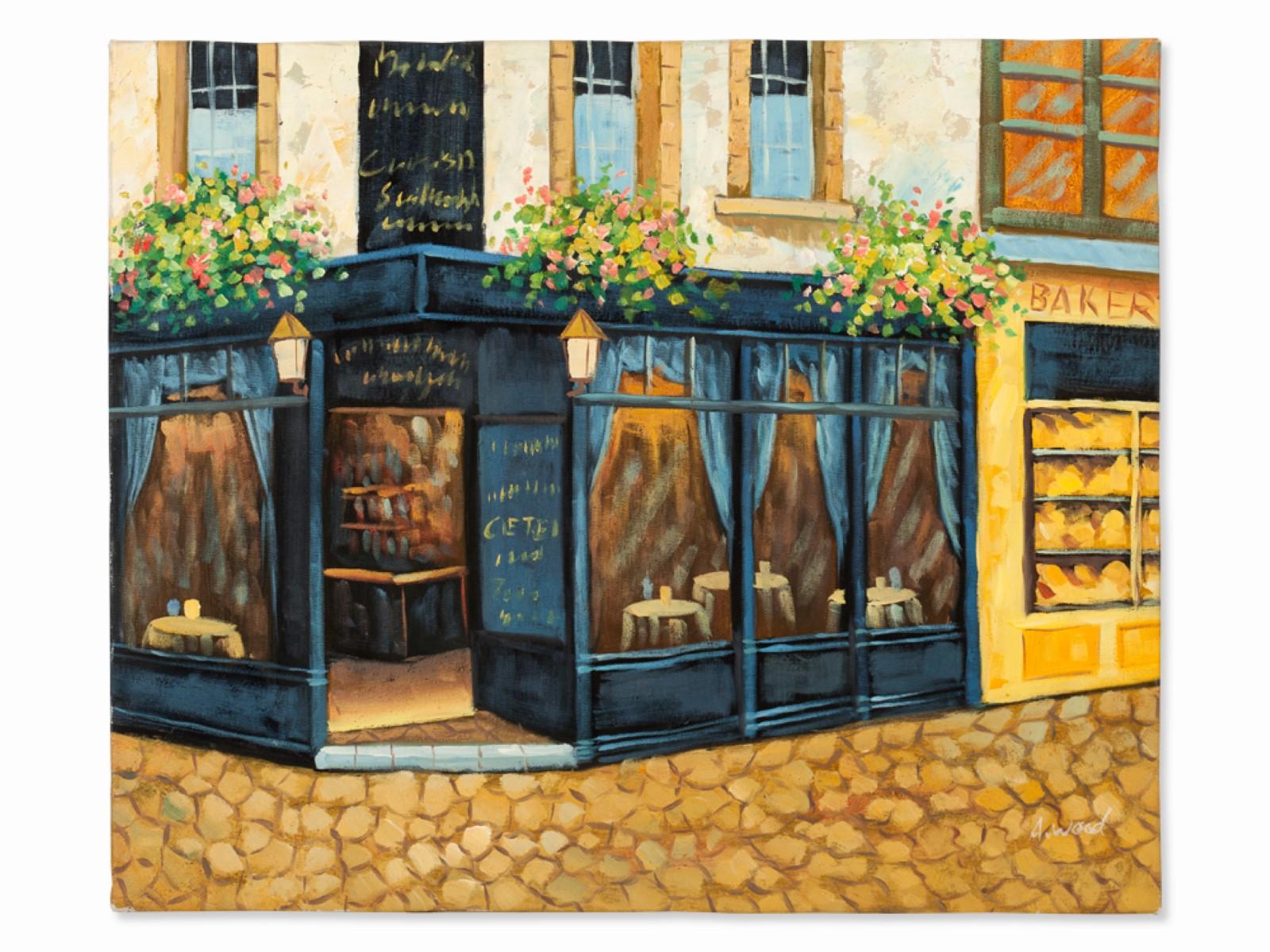 #84 A. Wood*, Street Cafe 2000 | A. Wood*, Straßencafé 2000 Image